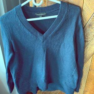 V-neck knit top